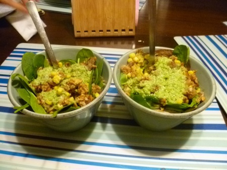 Build your own taco salad