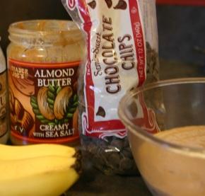 Almond butter vegan 'icecream'