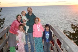 Sunset in our pajamas.
