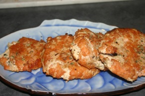 Grilled Cedar SalmonBurgers