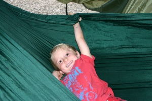 I want to chill in my hammock by my tent!